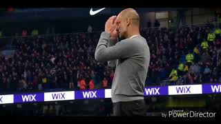 Raheem Sterling Infront of Goal Misses and Pep's Reaction .Manchester City FC
