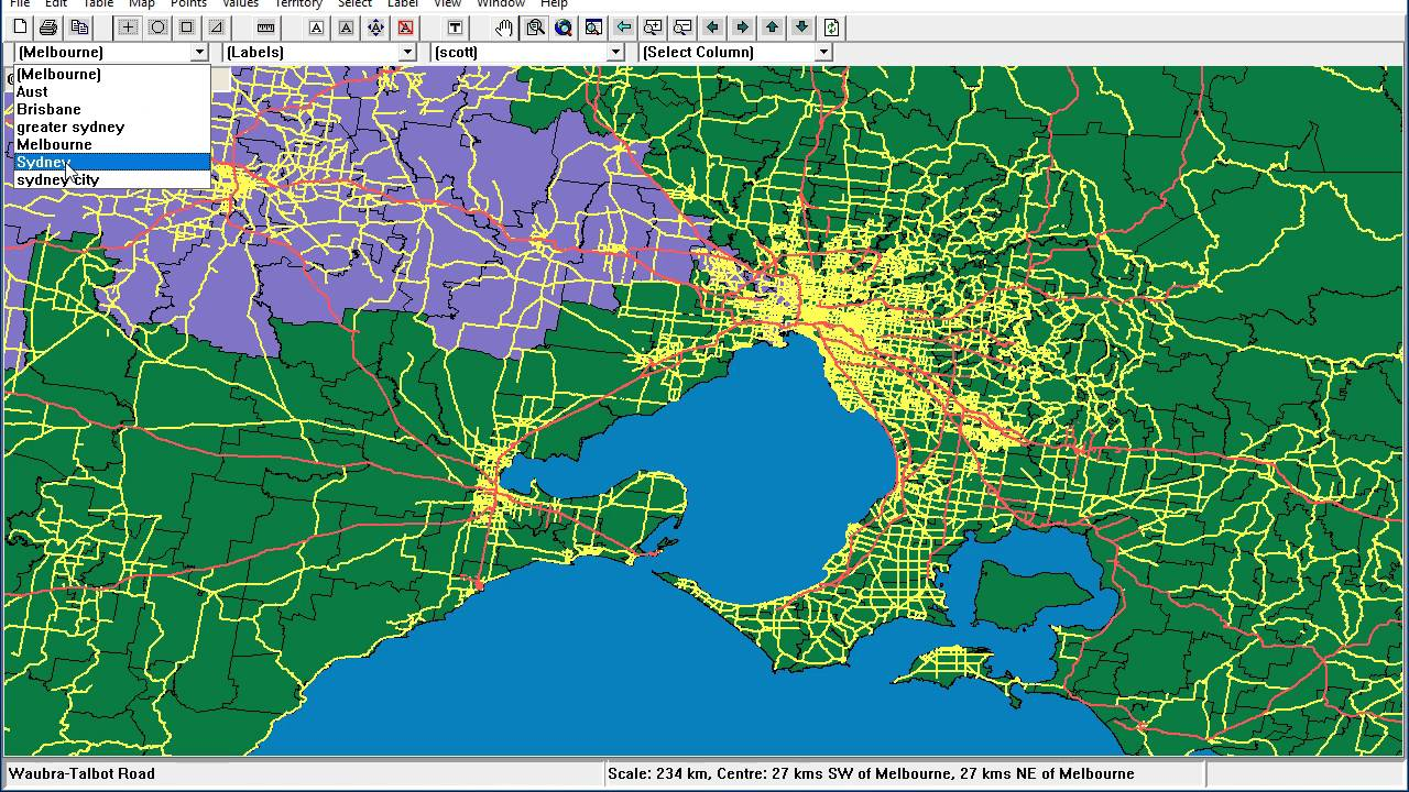 Desktop mapping - moving around the map - YouTube on