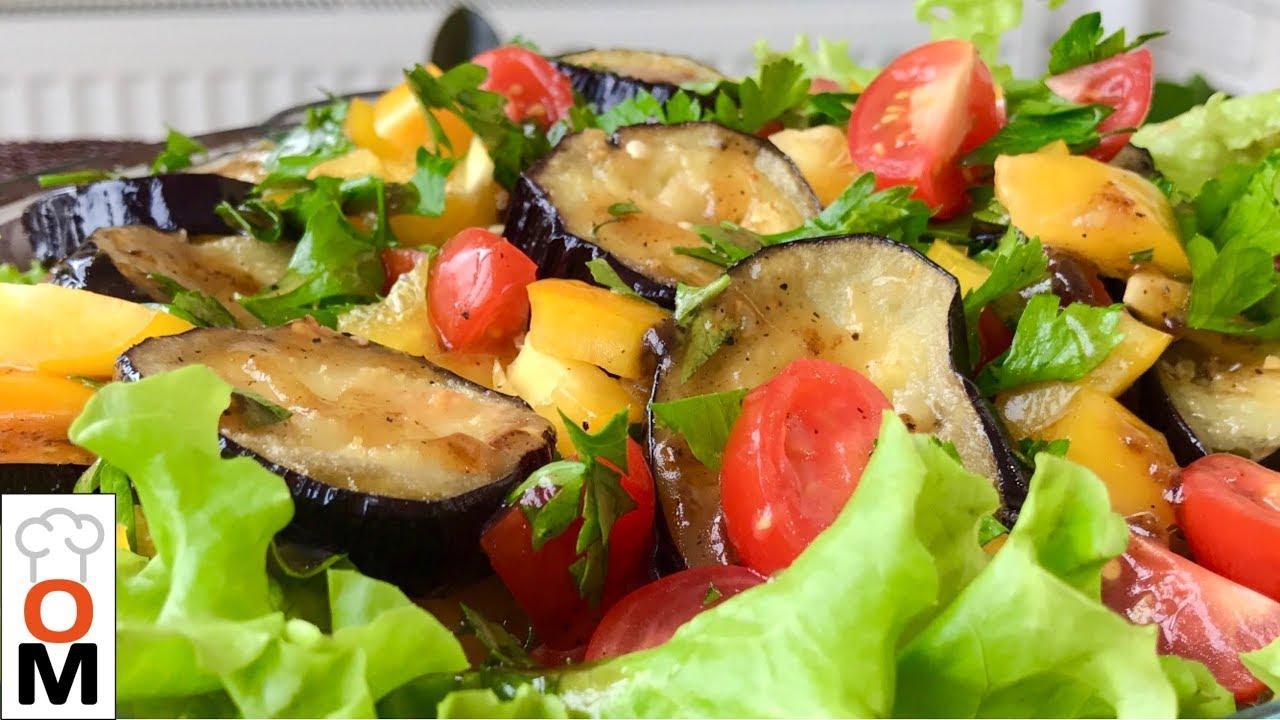 Теплый Салат из Баклажанов + Вкусный Соус   Warm Eggplant Salad + Delicious Sauce
