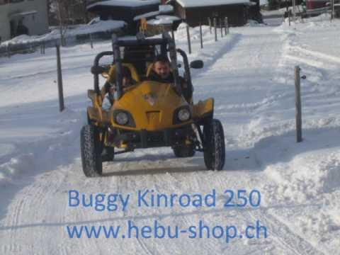 Kinroad 250 Buggy im Schnee von HEBU