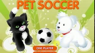 Кошки и собаки играют в футбол, мое первое видео