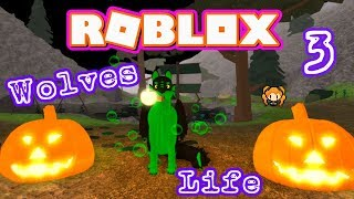 ROBLOX WOLVES LIFE 3 HALLOWEEN UPDATE WITCH & BAT THEMED WOLF Trick or Treat!