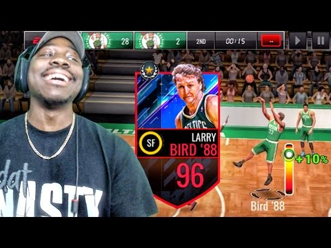 96 OVR LARRY BIRD SHOOTING THE LIGHTS OUT! NBA Live Mobile 16 Gameplay Ep. 112