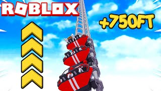 World's TALLEST Roller Coaster In ROBLOX! *750FT*