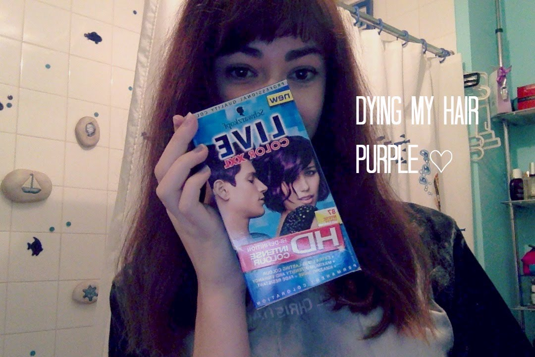 Dying My Hair Purple Mystic Violet Coppercoineyes