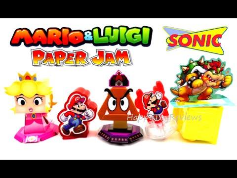 2016 Nintendo Mario Luigi Paper Jam Sonic Drive In Set 5 Kids Meal