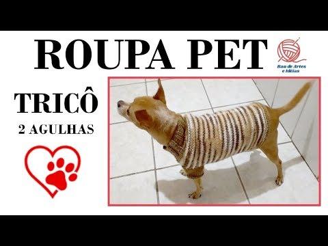 ROUPA PET - TRICÔ - 2 AGULHAS - LÃ MESCLA