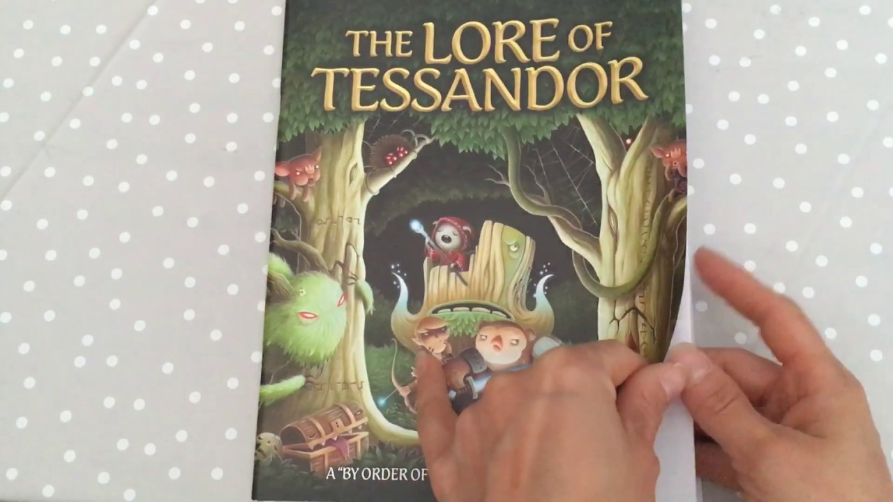 Flip Through The Lord Of Tessandor Coloring Book