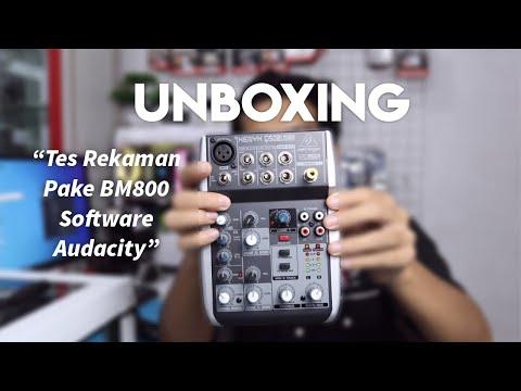 Unboxing Mixer Audio Behringer XENYX Q502USB dan Tes Recording Pake Mic BM800