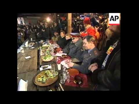 RUSSIA: COUNTRY'S FIRST EVER OFFICIAL VODKA DRINKING CONTEST