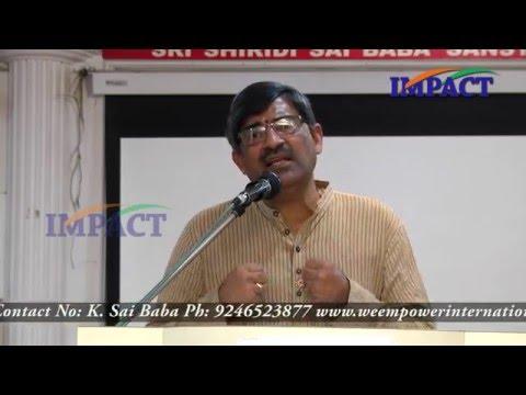 LV Subramanyam at We Empower Hyderabad