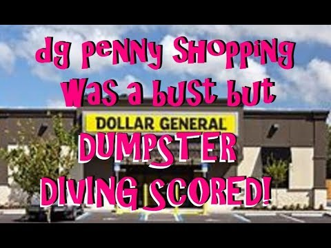 95e66a93c Dollar General Penny Shopping is a Bust But DUMPSTER DIVING STILL SCORES! –  Shopping time