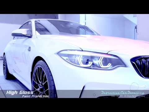 BMW M2 Competition Alpine White Definitive Sydney Liquid Glass Ceramic Coating High Gloss Paint Prot
