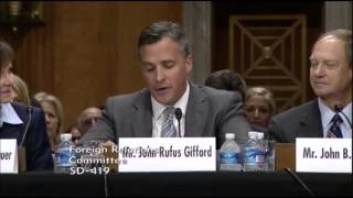 Senate confirmation hearing on 7/25/2013 on Rufus Gifford's nomination as Ambassador to Denmark.
