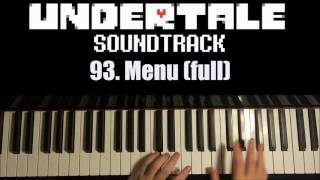 Undertale OST - 93. Menu (full) (Piano Cover by Amosdoll)