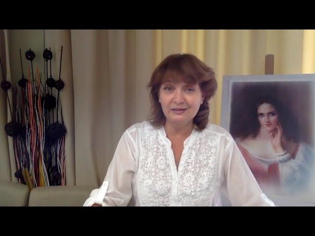 Cекреты создания цветного портрета - 2  Сухая кисть в цвете. Онлайн курс рисования портрета
