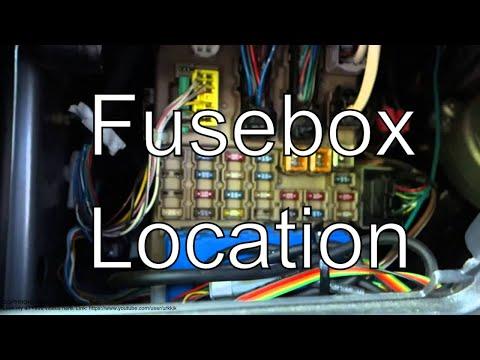 toyota corolla uk right hand drive fuse box location youtube. Black Bedroom Furniture Sets. Home Design Ideas