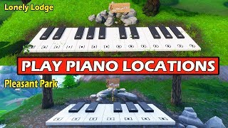 """Play the Sheet Music on the Pianos near Pleasant Park & Lonely Lodge"" LOCATIONS GUIDE! FORTNITE"
