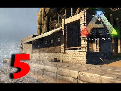 WAREHOUSE BUILD AND SLOPED FOUNDATIONS TIPS | ARK:Survival Evolved | ep:5