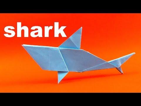 Mudah Origami Ikan Hiu - Origami Mudah Tutorial. Cara Membuat Origami Ikan Hiu
