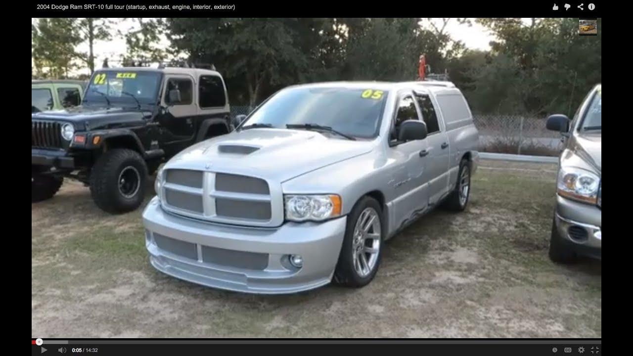 2005 Dodge Ram SRT-10 full tour (startup, exhaust, engine, interior, exterior) - YouTube
