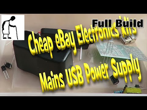 Cheap eBay Electronic kits Mains USB power supply FULL VIDEO