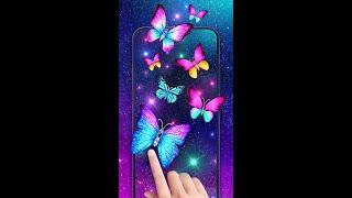 Beautiful galaxy butterfly wallpaper for your phone screenshot 3
