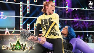 Belair shows off power against Lynch and Banks WWE Crown Jewel 2021 WWE Network Exclusive