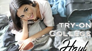 BIG TRY-ON COLLEGE CLOTHING HAUL 2016 | Topshop + Nastygal + Zara + UO + F21