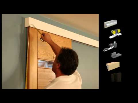 Mantion Straight Sliding Door System With Clippable Wooden Pelmet Youtube
