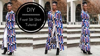 Download Video DIY   How To   Front Slit Shirt Tutorial Part 1 MP3 3GP MP4