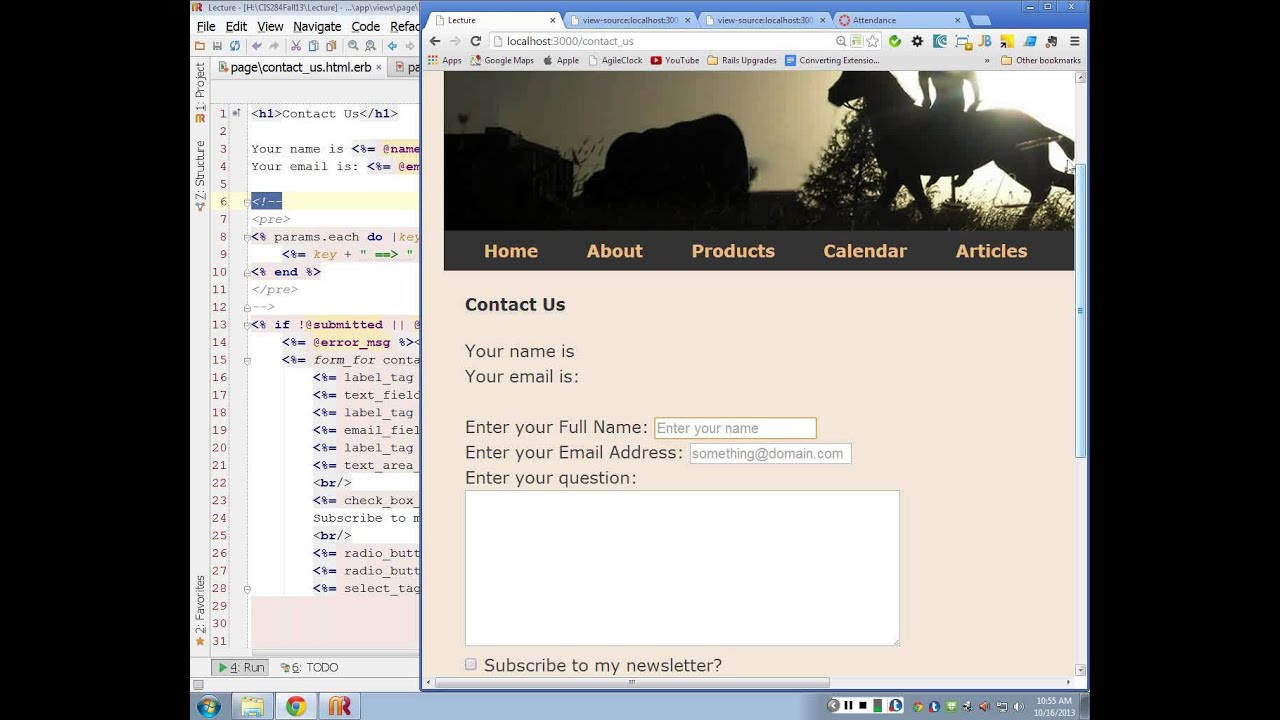 Ruby/Rails 4 0 - Lecture 13/29 - Contact Form