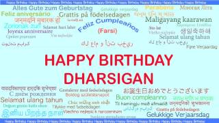 Dharsigan   Languages Idiomas - Happy Birthday
