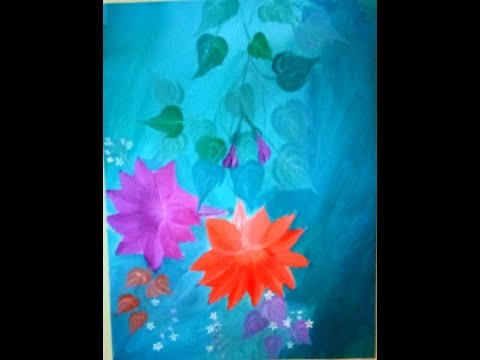 Simple Morning glory l acrylic painting tutorial for beginners l step by step