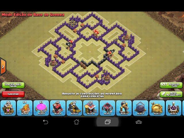 Layout de Guerra CV8 (clash of clans )