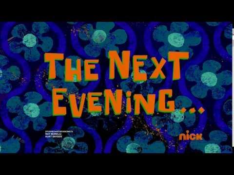 The Next Evening... | SpongeBob Time Card #121