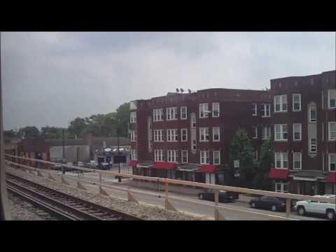 CTA Green Line train from 47th Street to Harlem/Lake terminal 3 (06-03-16)