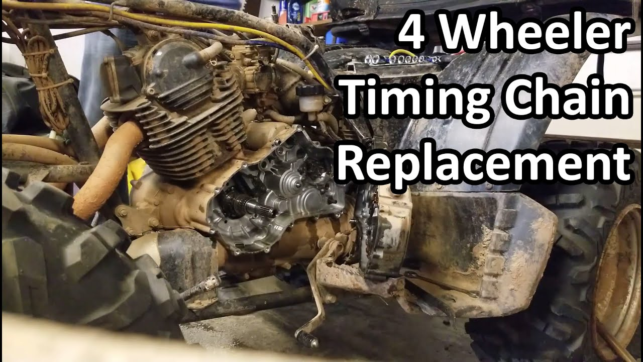 4 wheeler timing chain replacement without removing the head \\\\ yamaha wolverine 350 Yamaha Moto 4 200