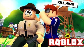 GETTING THE SHERIFF TO KILL MY INNOCENT FRIEND! -- ROBLOX Murder Mystery 2
