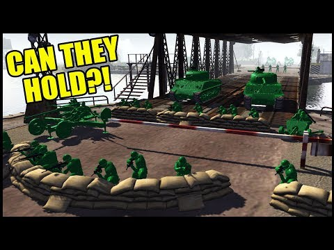 Can The Green Army HOLD The BRIDGE?! - Army Men Of War Battle Simulator