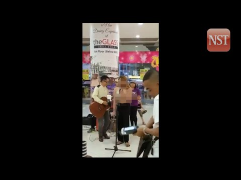 Sabah mall patrons get an eyeful as singer