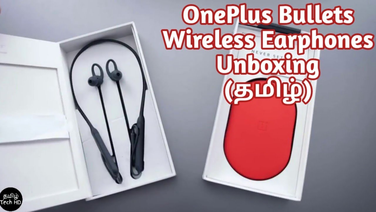 56be9c912cb OnePlus Bullets Wireless Earphone Unboxing in Tamil Tech HD | OnePlus  Wireless India Price Rs.3,999