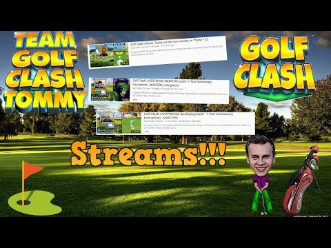 Golf Clash LIVESTREAM, QPENING round - Winter Games! MASTERS - BOOOOOM!