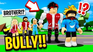 I Got ADOPTED by My BULLIES FAMILY in Roblox BROOKHAVEN RP!! (Kr The Bully)