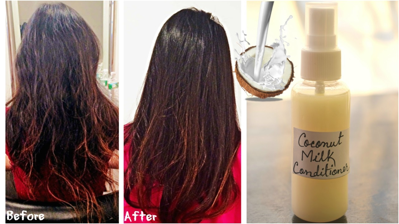 Awesome DIY Coconut Milk Hair Conditioner For Soft, Smooth U0026 Strong Hair | Get Rid  Of Split Ends