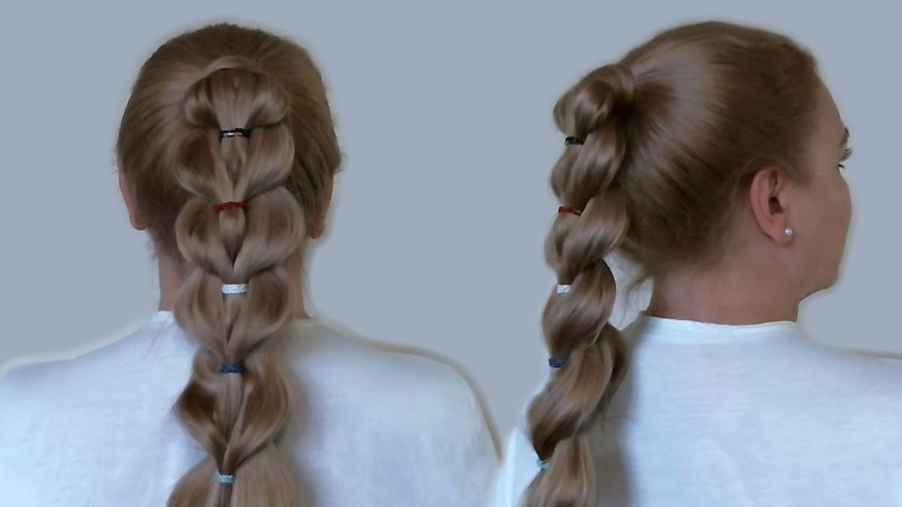 unique braid ponytail with rubber