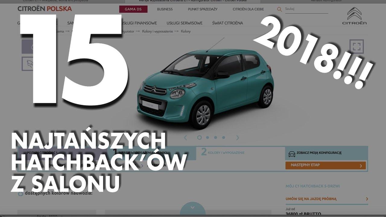 15 najtańszych hatchback'ów w polskich salonach – #114 TOP10