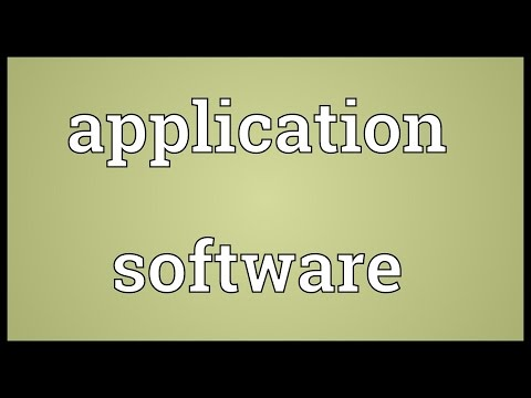 Application software Meaning