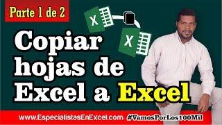 Macro en Excel - Copiar hojas de Excel a Excel - 1 de 2