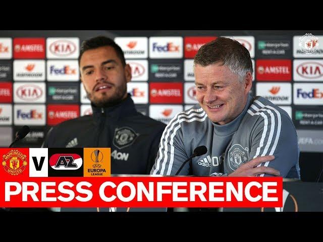 Solskjaer & Romero preview UEFA Europa League tie | Manchester United v AZ Alkmaar